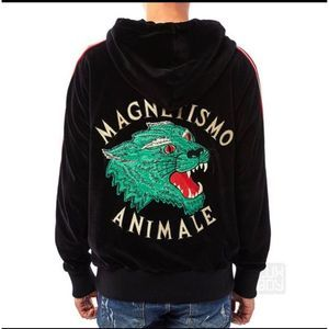 Mens Gucci  Magnetismo Animale Chenille Sweatshirt